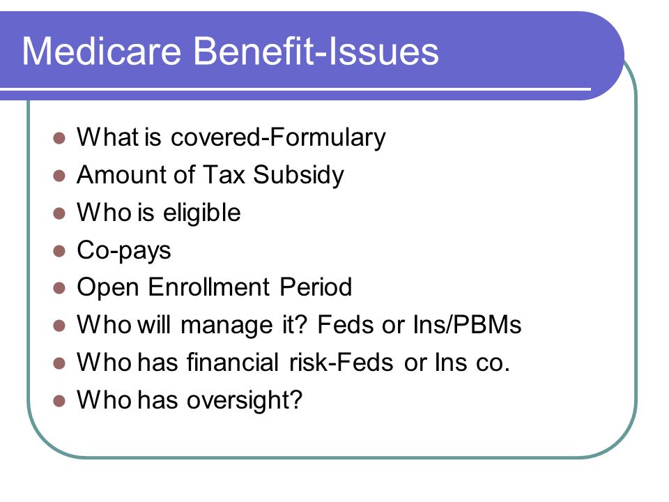 Medicare Benefit-Issues