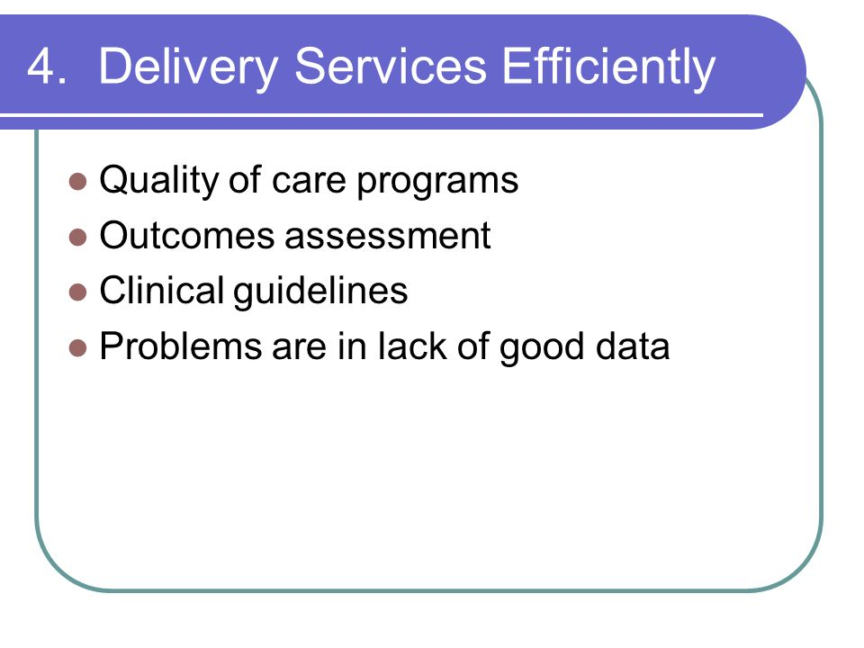 4. Delivery Services Efficiently