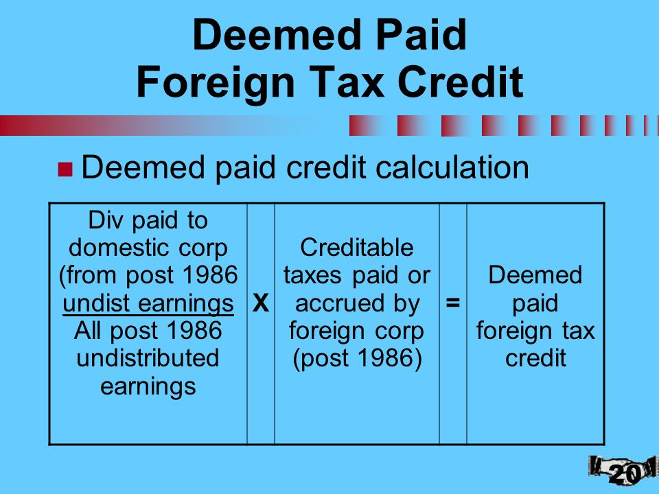 Chapter 16: U.S. Taxation of Foreign-Related Transactions - ppt ...