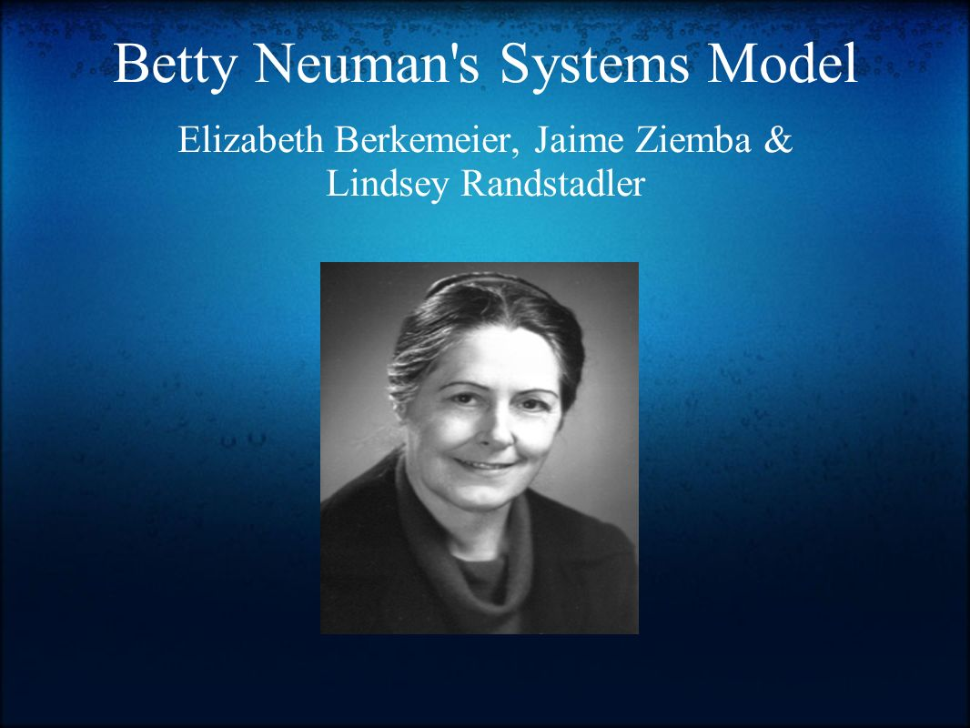 reflection on betty neuman theory Nursing theories and the practice of neuman's system's model betty neuman developed the neuman systems model to provide a structure for integrating.