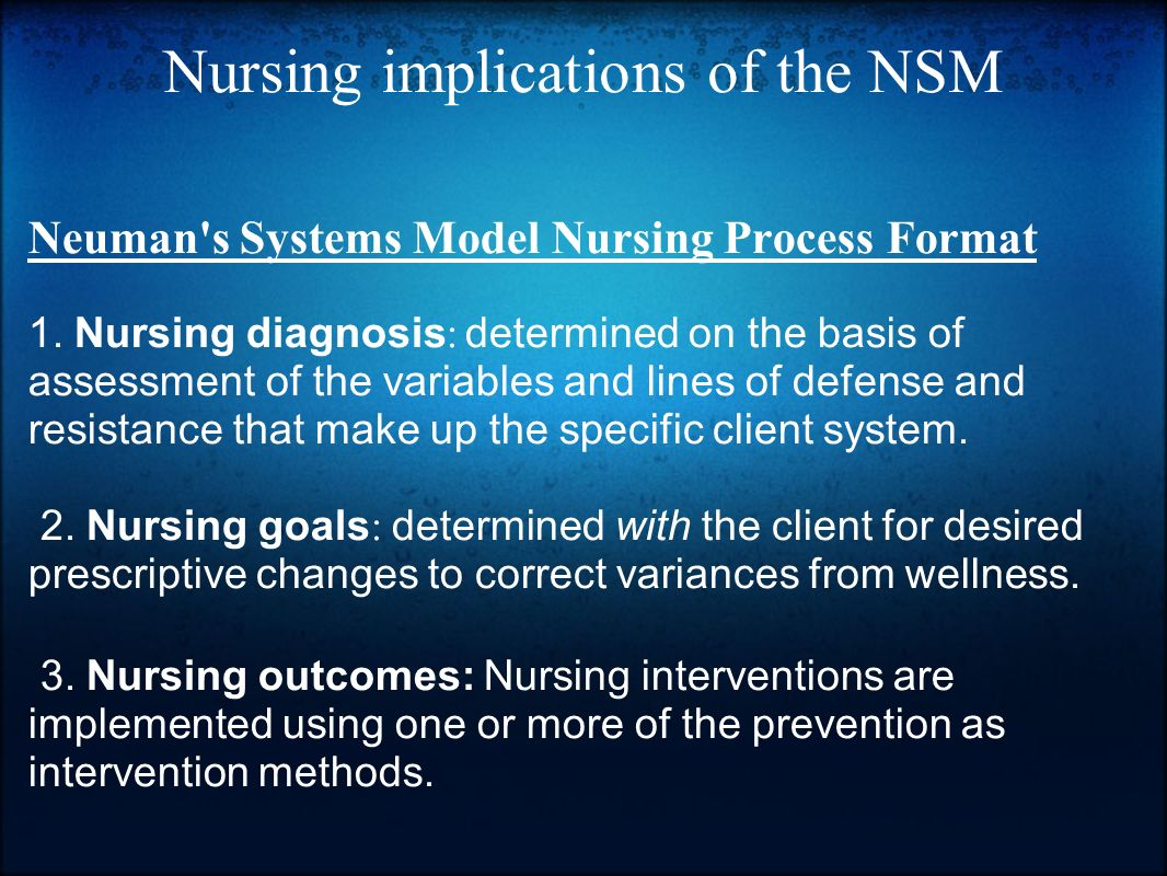 system theory and nursing practice