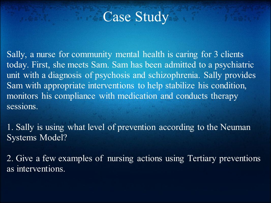 Psychiatric mental health nursing case studies Research