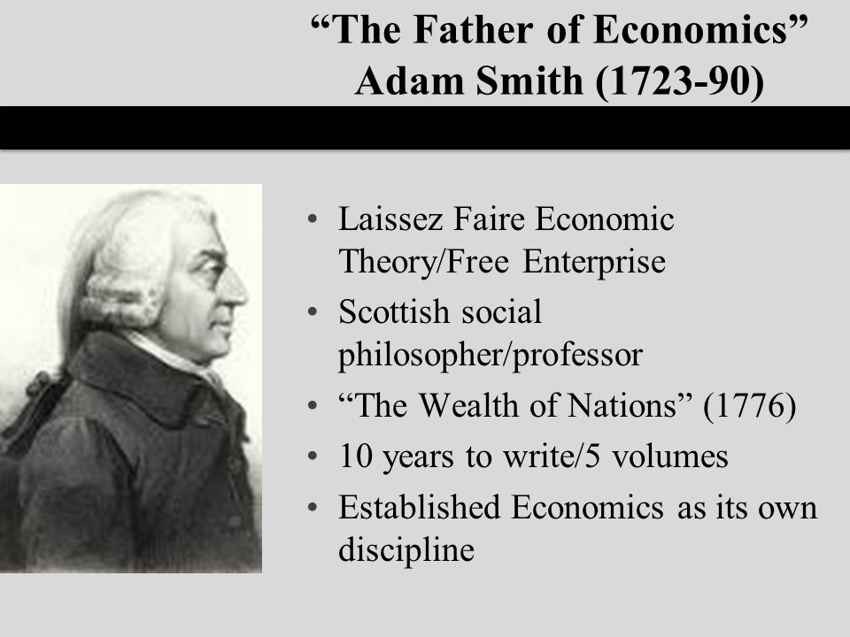 adam smith the father of modern - adam smith is widely regarded as the father of modern economics and one of the greatest economists throughout the course of history he is mainly famous for a two books that he wrote, these two books are considered thee base and infrastructure of the world of economics.