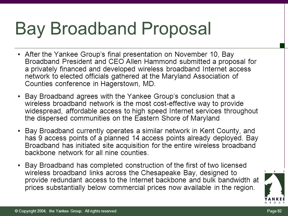 Bringing Affordable Broadband To Marylands Eastern Shore Ppt Download