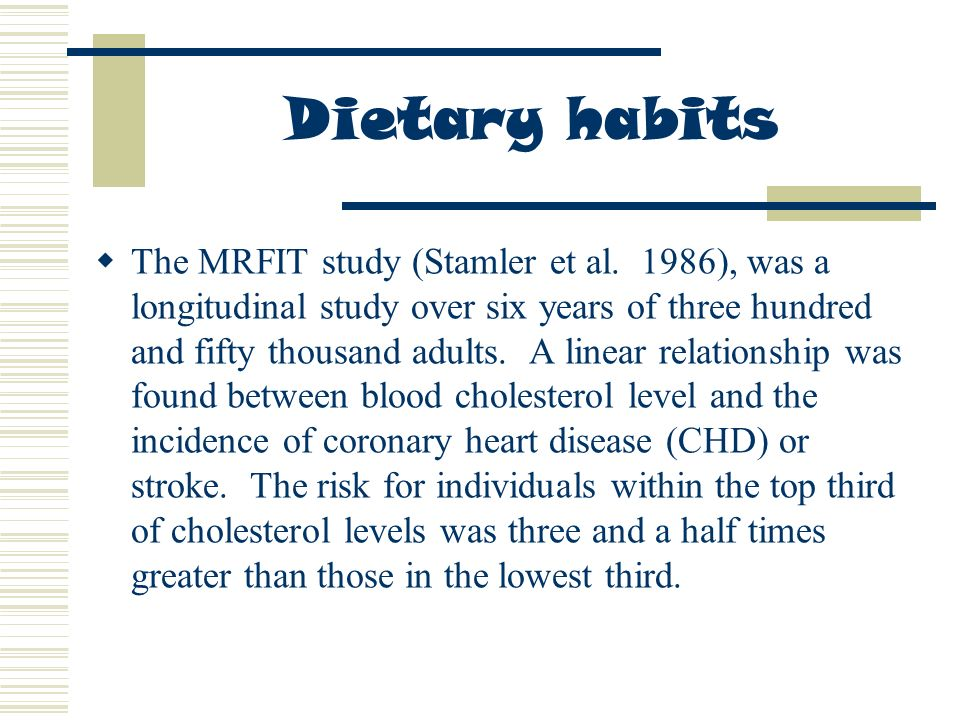 relationship between dietary and blood levels of cholesterol