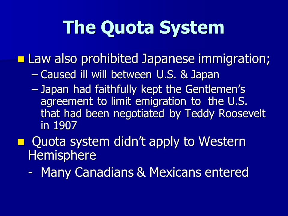 quota system immigration - photo #36