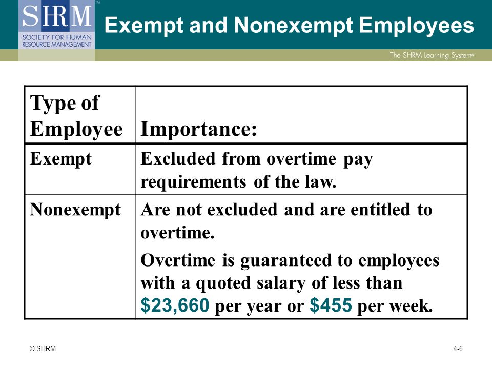 exempt or non exempt