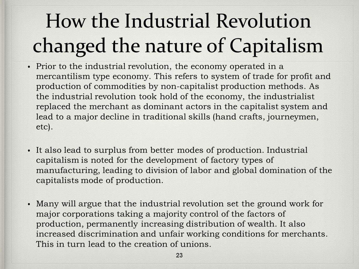 corporate development during the industrial revolution