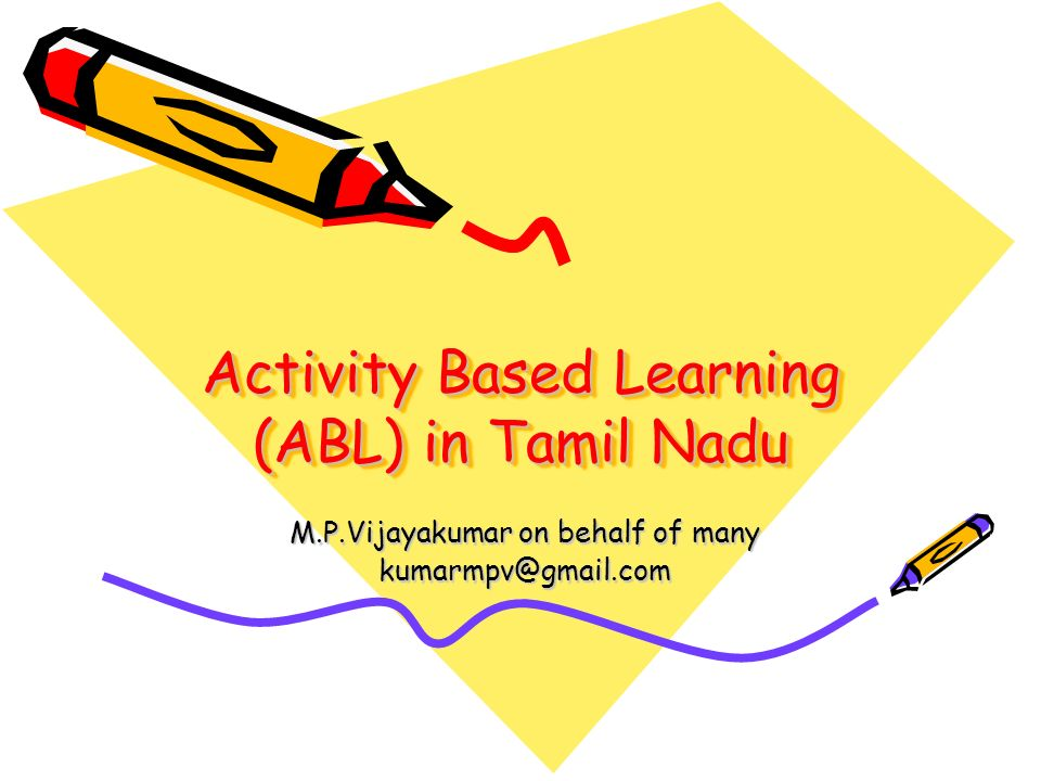 Activity Based Learning (ABL) in Tamil Nadu