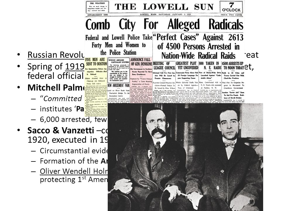 sacco and vanzetti thesis Nicola sacco and bartolomeo vanzetti in 1920, nicola sacco and bartolomeo vanzetti were arrested for the killing of a guard during the robbery of a shoe factory.