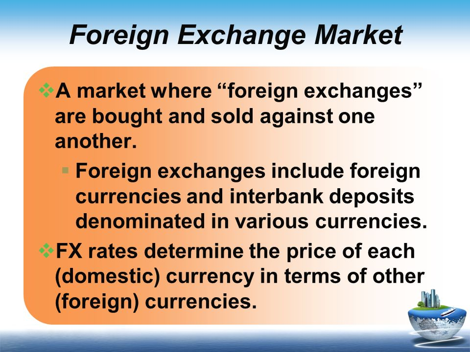 Currency exchange fx