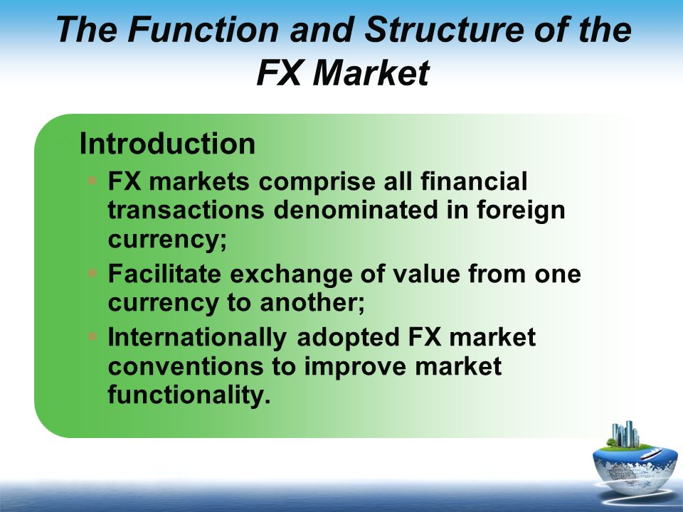 Importance of foreign exchange
