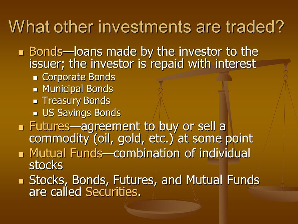 Stocks bonds options futures investments and their markets