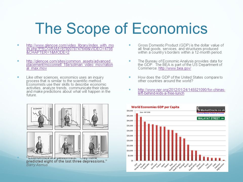 Welcome to economics tinstaafl ppt video online download - Bureau of economic analysis us department of commerce ...