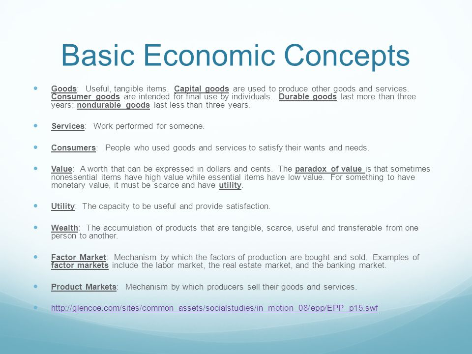 fundamental of economic concept Read this essay on fundamental economic concepts come browse our large digital warehouse of free sample essays get the knowledge you need in order to pass your classes and more.