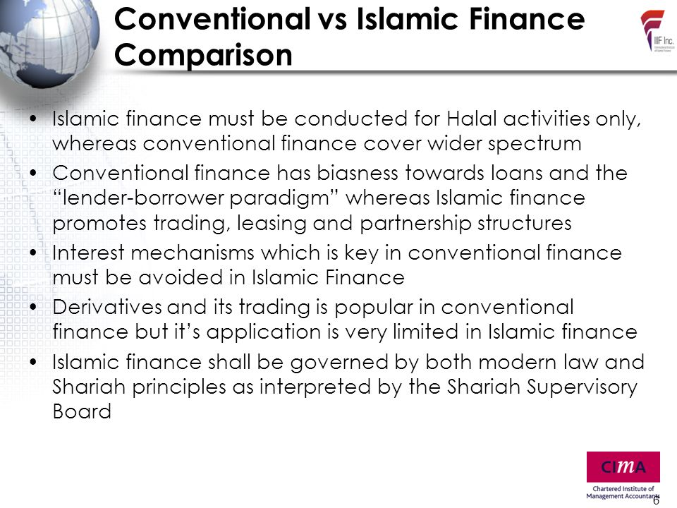islamic finance vs conventional finance The performance of islamic vs conventional banks: a note on the suitability of capital ratios 3 at the 4th islamic banking and finance conference held in.