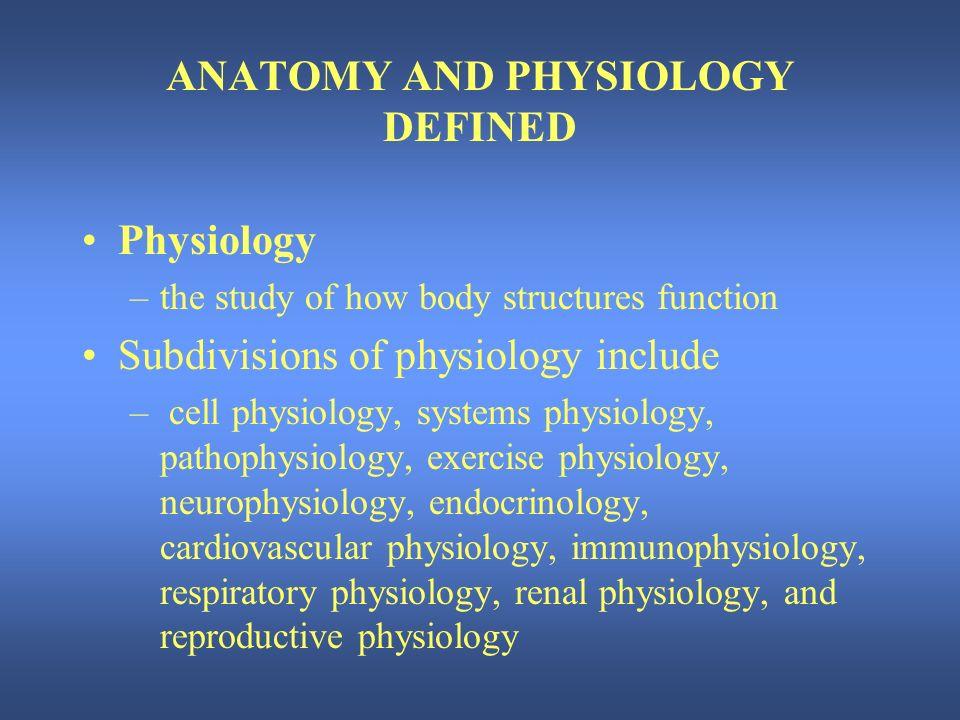 Nett Anatomy And Physiology Defined Zeitgenössisch - Anatomie und ...