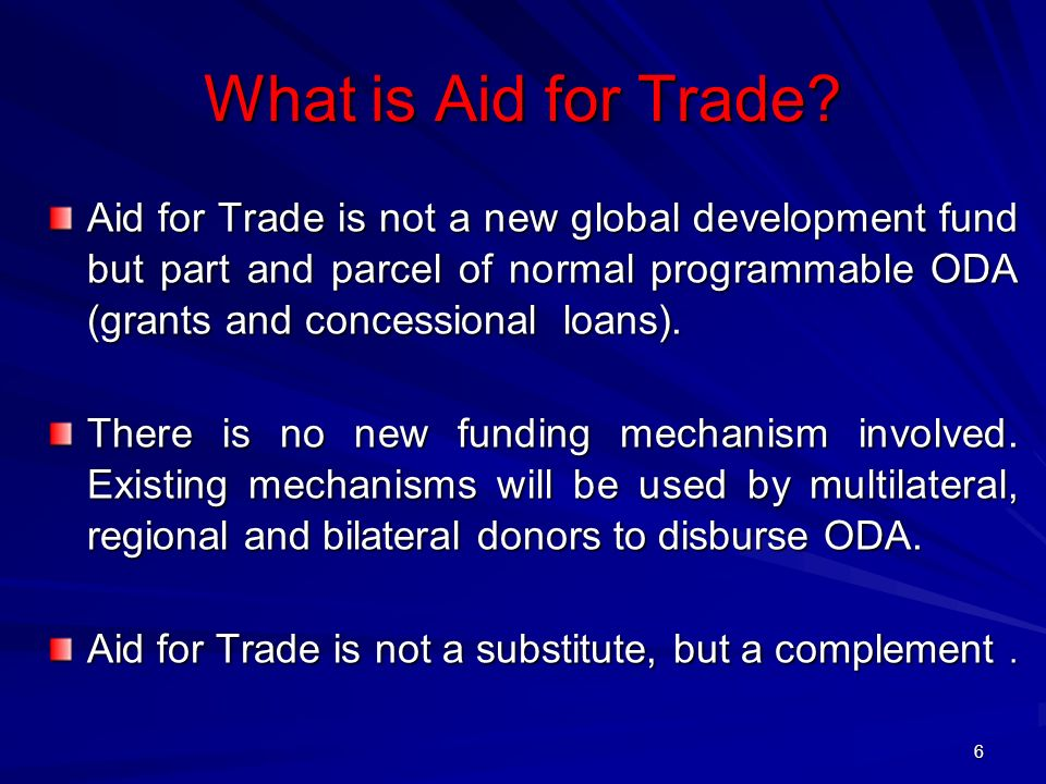 What is Aid for Trade