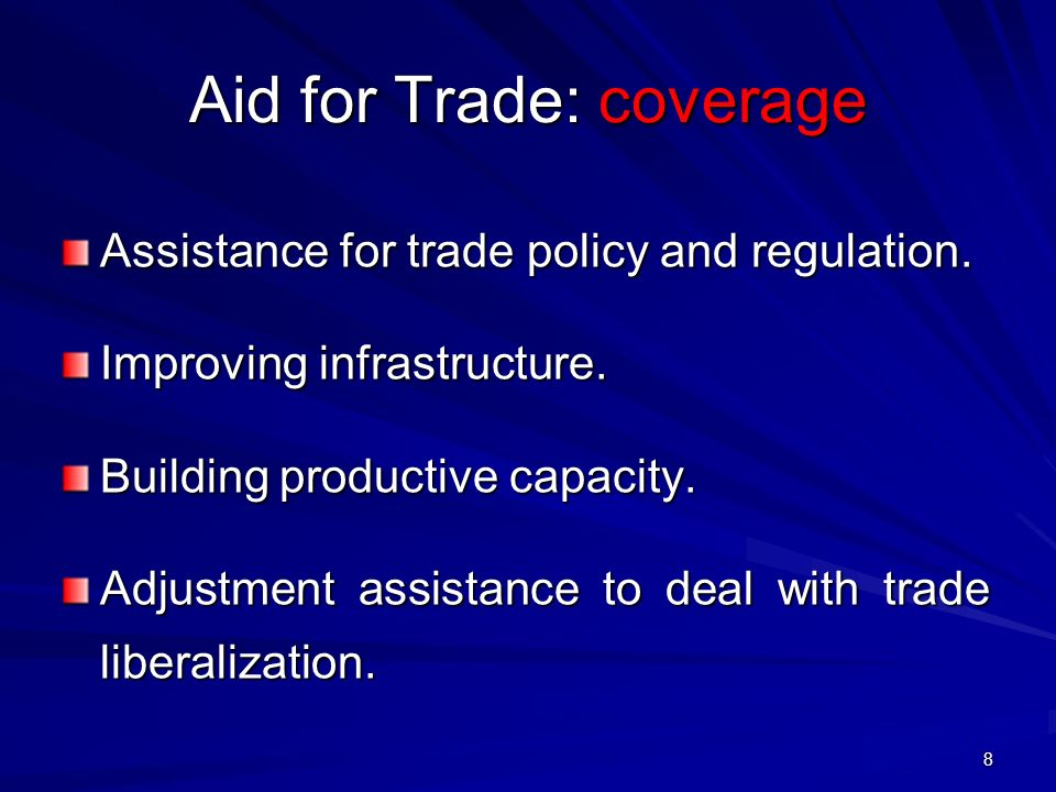 Aid for Trade: coverage