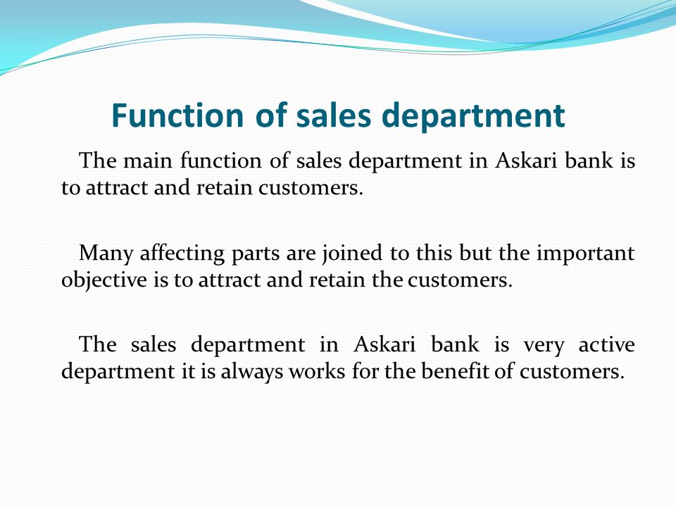 selling function in a bank Let us understand the roles and responsibilities of a sales manager msg  functions planning function  for not only selling but also maintaining.