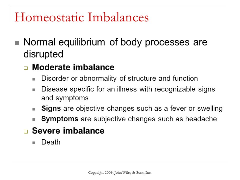 homeostatic imbalance 8 rheumatoid arthritis: begins with inflammation of synovial membranes the  membranes thicken and joints swell as the synovial fluid accumulates the body.