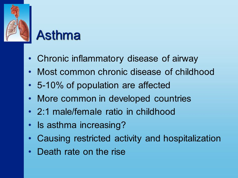asthma the common chronic inflammatory disease Clinically, asthma is a chronic inflammatory disease of the airways in which many cell types play a role, in particular mast cells, eosinophils, and t lymphocytes in susceptible individuals, the inflammation causes recurrent episodes of wheezing, breathlessness, chest tightness, and cough, particularly at night and/or early morning.