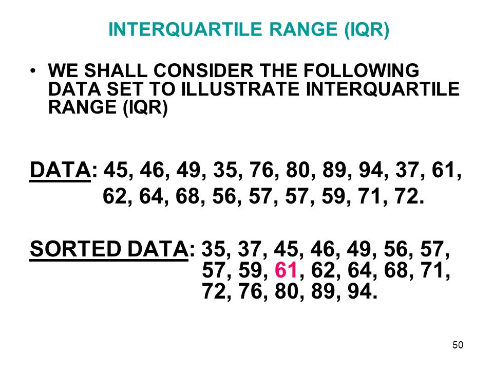 how to find iqr of a data set