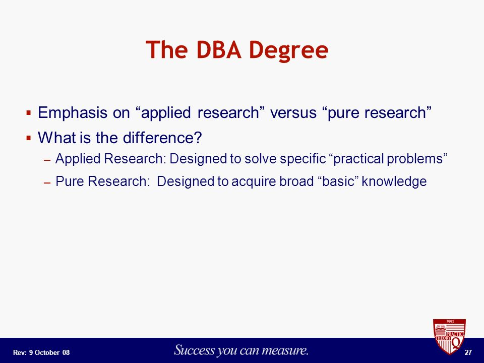 applied research and pure research