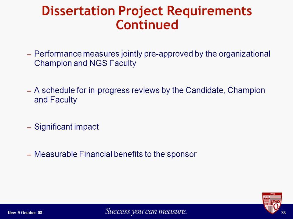 Phd dissertation help requirements
