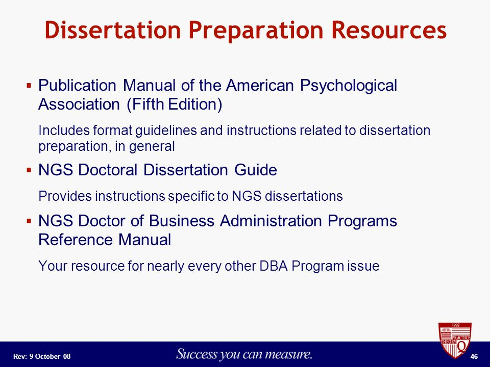thesis preparation The guide to dissertation preparation is intended to facilitate the mechanics of construction of the dissertation documents and to make the dissertation.