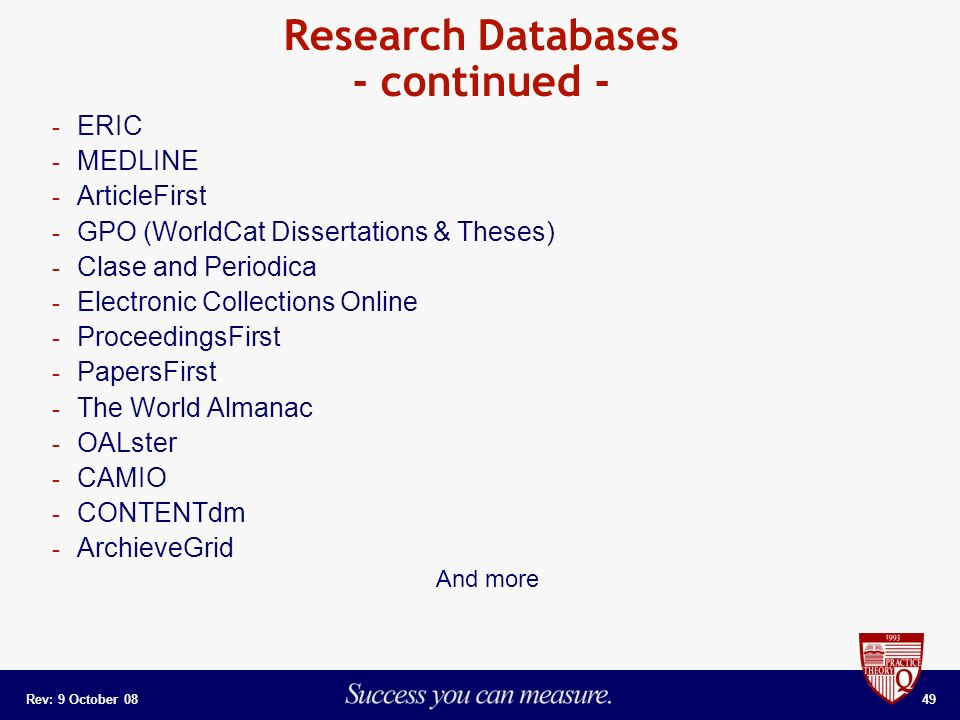worldcat dissertations database Education theses/dissertations  and many theses which are not in the digital dissertations database search both digital dissertations and worldcat for the best.