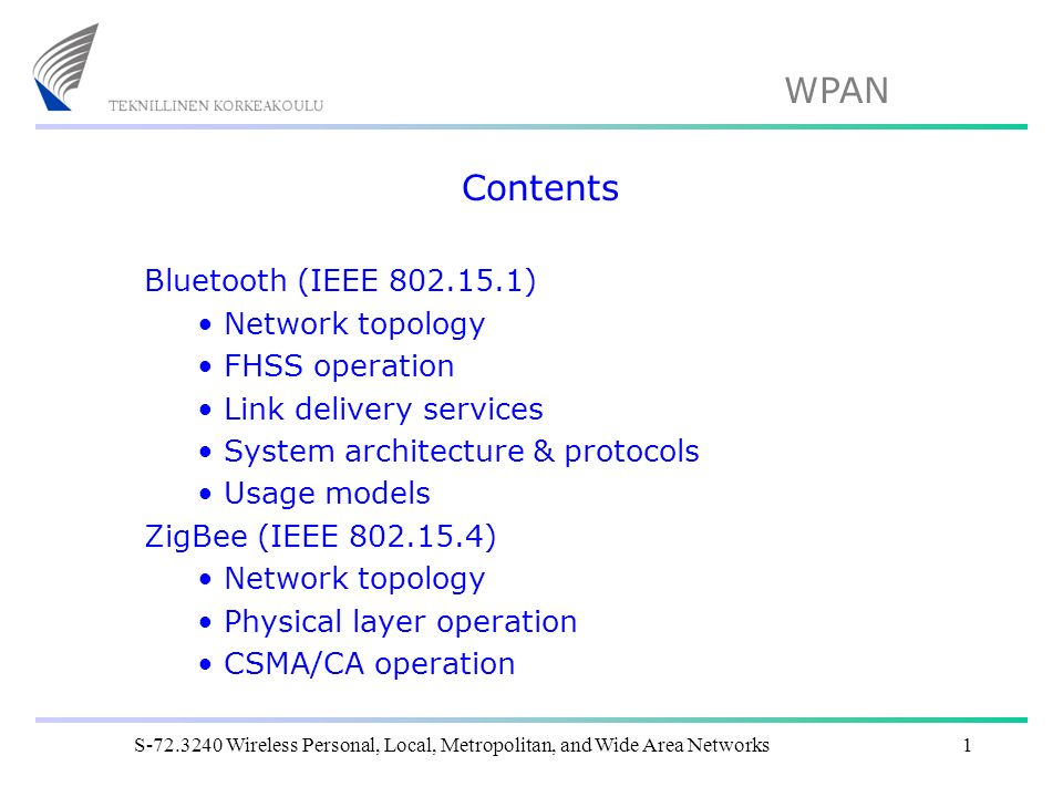 Contents bluetooth ieee network topology fhss operation for Ieee definition