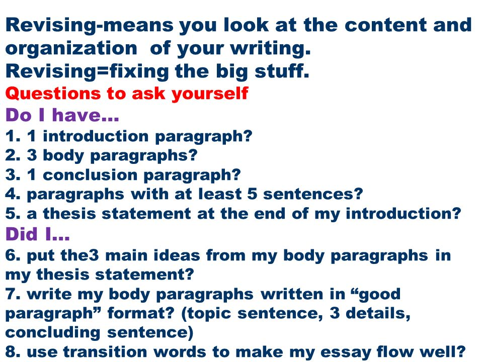 questions to ask yourself when writing a thesis A thesis statement is one sentence that expresses the main idea of a research   this is a harsh yet necessary question to ask yourself: will my readers have any.
