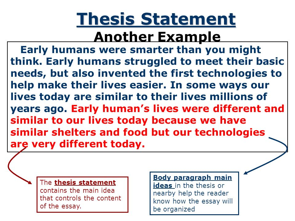 aim how do you write a thesis statement ppt  5 thesis statement another example
