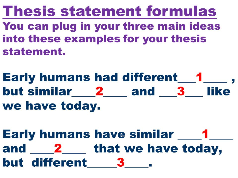 formula for making a thesis statement Thesis statement formula for research paper we have a highly professional and qualified writing staff our writers have great writing experience and always do their.