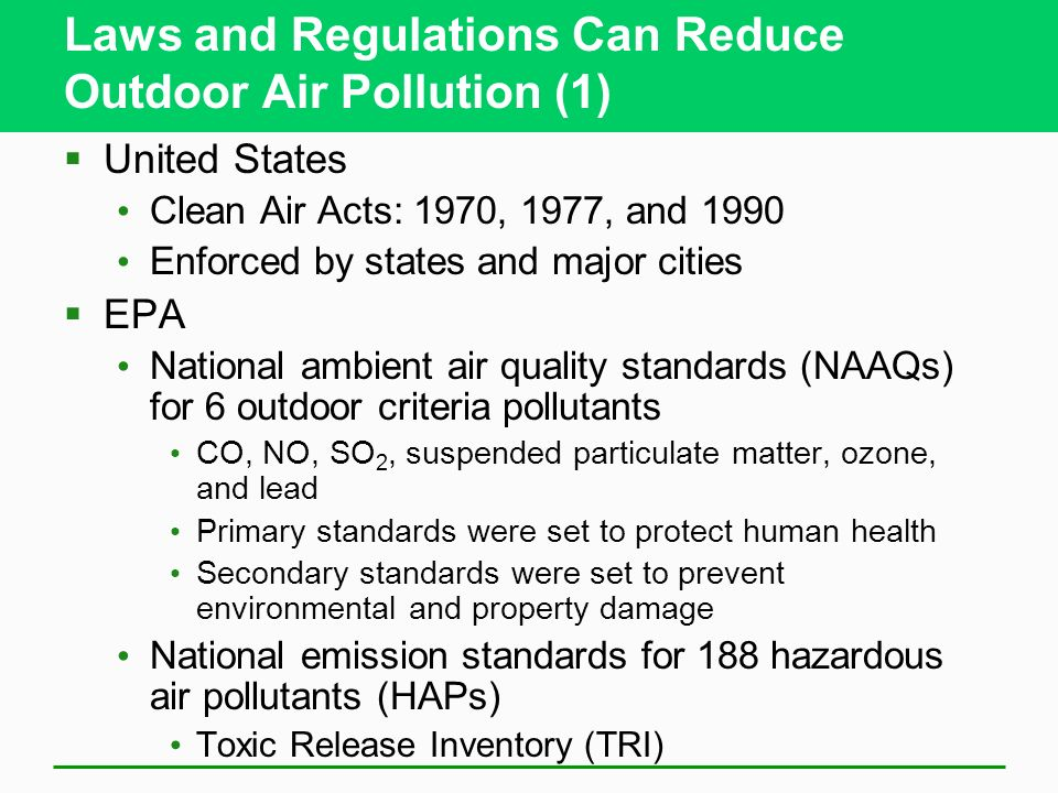 How the united states can curb environmental pollution