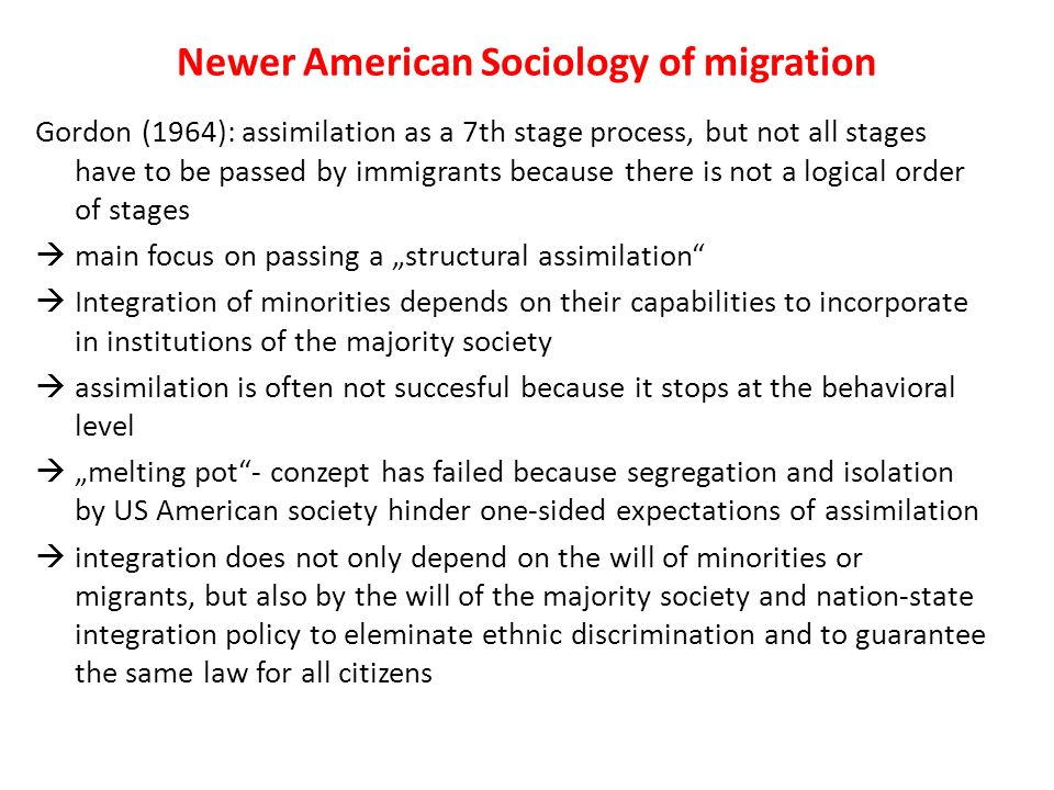 sociology of migration At the global level, sociology studies such phenomena as population growth and migration, war and peace, and economic development sociologists emphasize the careful gathering and analysis of evidence about social life to develop and enrich our understanding of key social processes.