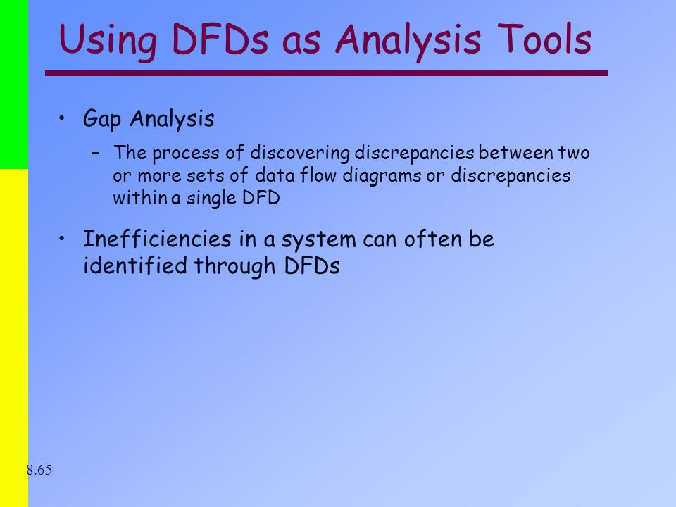 using dfds as analysis tools - Dfd Tools