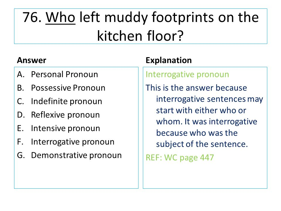 1 in which sentence is the word you the subject ppt for Sentence of floor