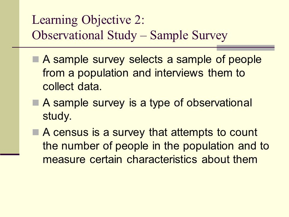 observational survey Definition of observational study, from the stat trek dictionary of statistical terms  and concepts this statistics glossary includes definitions of all technical terms.