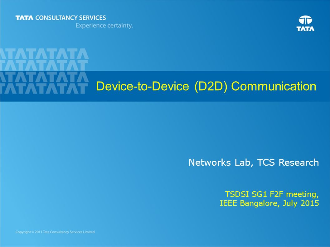 Device To Device D2d Communication Ppt Video Online