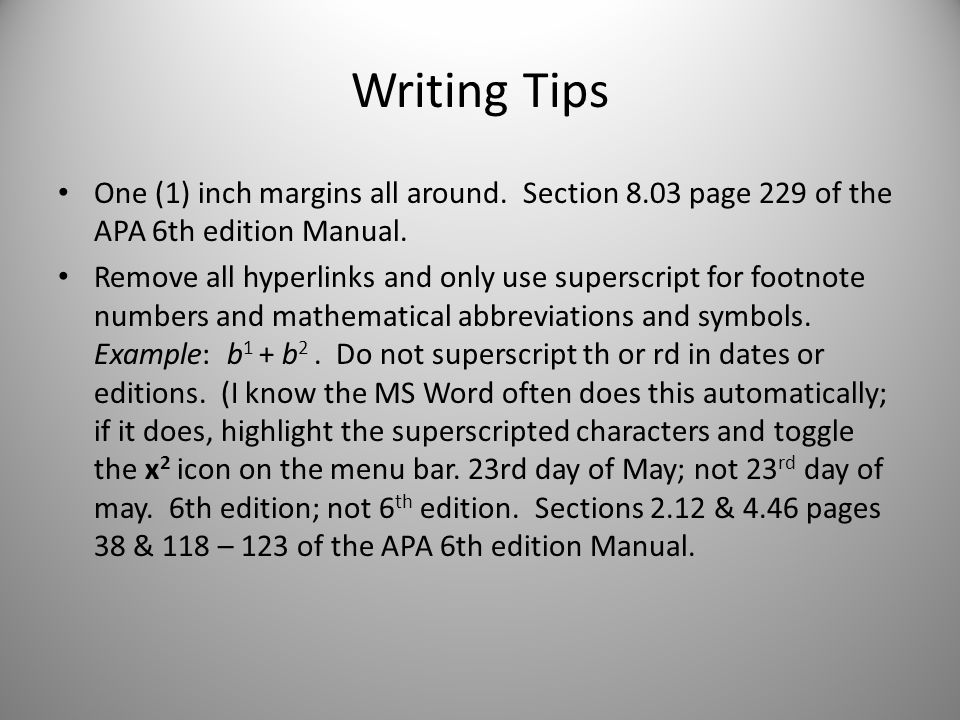 how to write a paper in apa format 6th edition Download and create your own document with apa format 6th edition template (32kb users can write the standard apa format papers with the instructions paper.