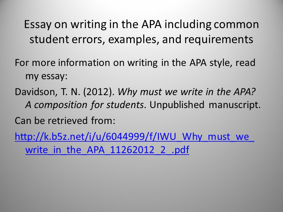 Common errors in student research papers