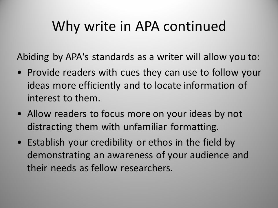 apa writer
