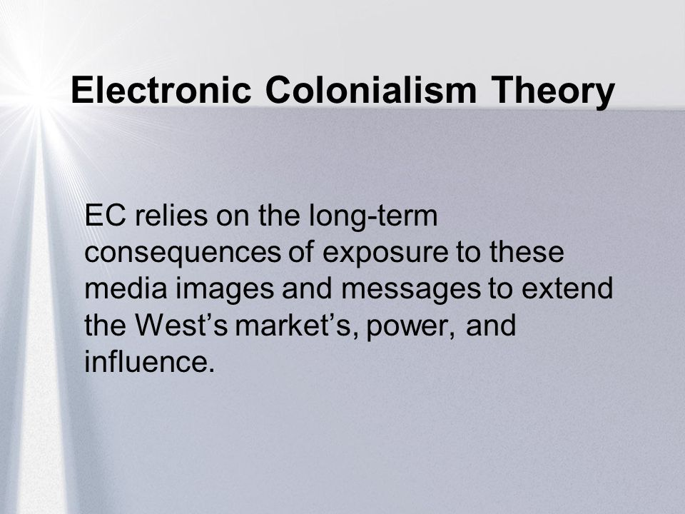 Electronic Colonialism Theory
