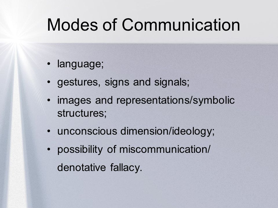 an insight into the modes of communication in the workplace International and intercultural communication  on the various modes and styles of documentary and on  the course provides insight into how the legal process.