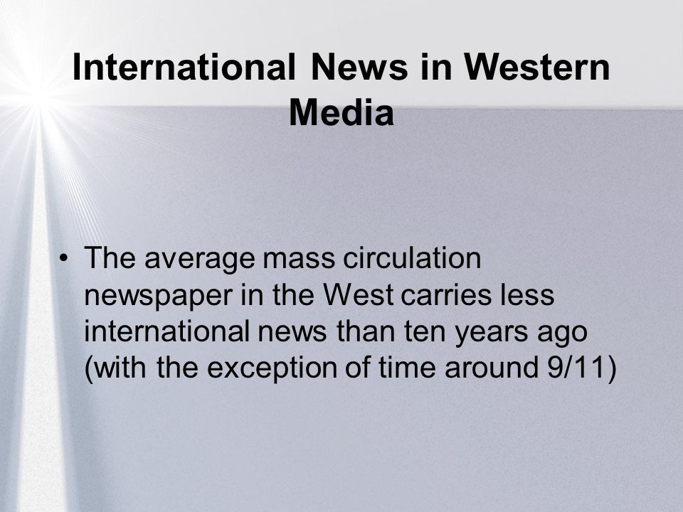 International News in Western Media