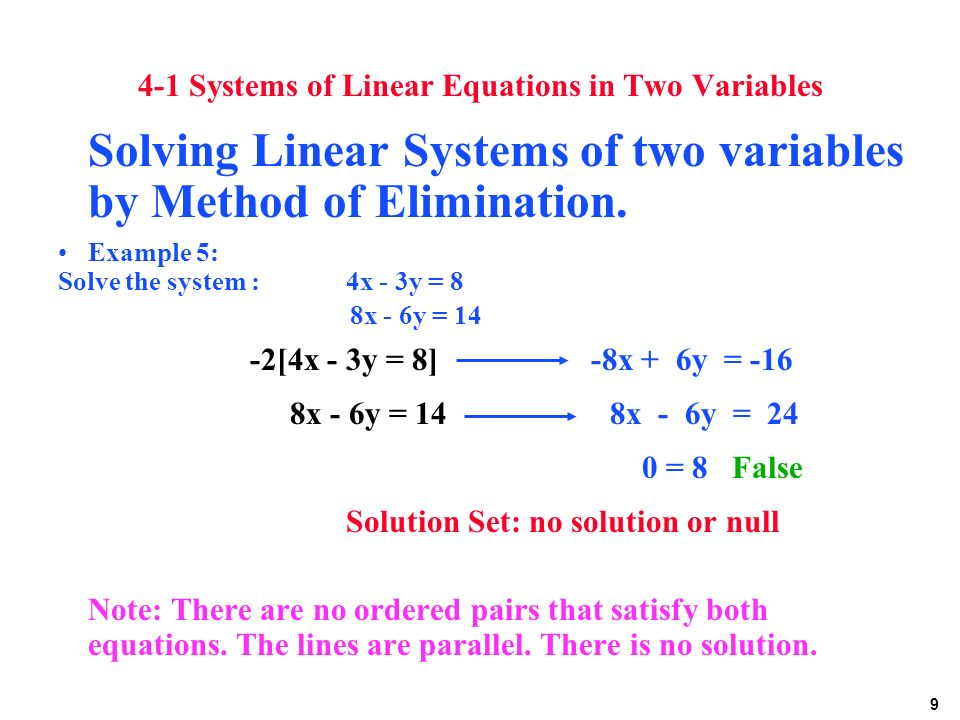 how to solve linear equations with 4 variables