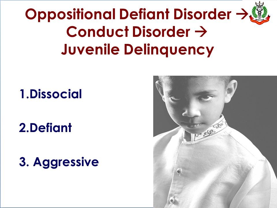 juvenile delinquency and conduct disorder Adhd and juvenile delinquency in combination with oppositional-defiant and conduct disorders on a childhood mental disorder and the largest clinical trial ever.