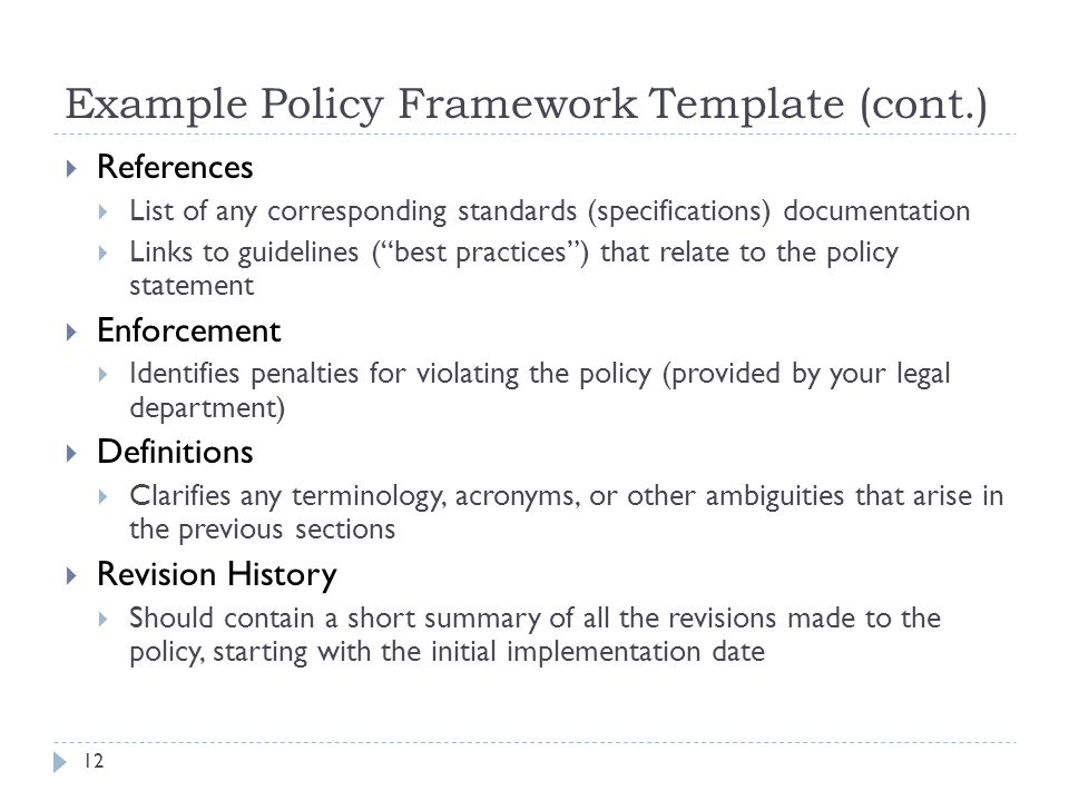 Security policy forensics and incident response legal example policy framework template cont pronofoot35fo Image collections